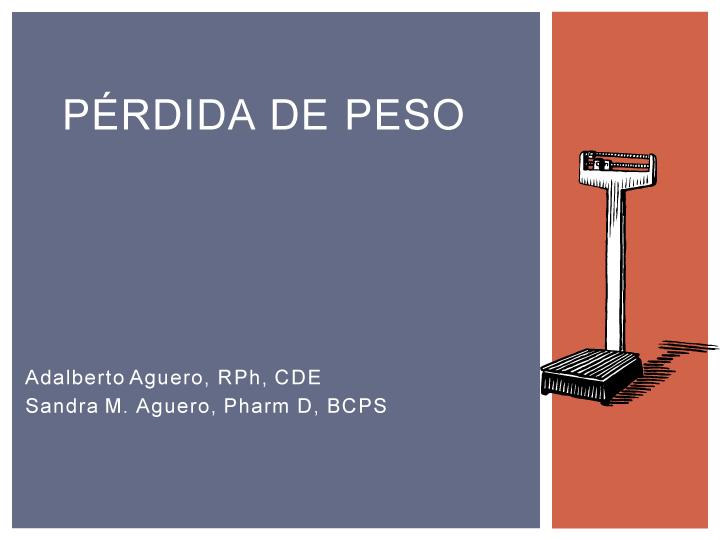 Pérdida de peso – DiabetesTeachingGuide.com